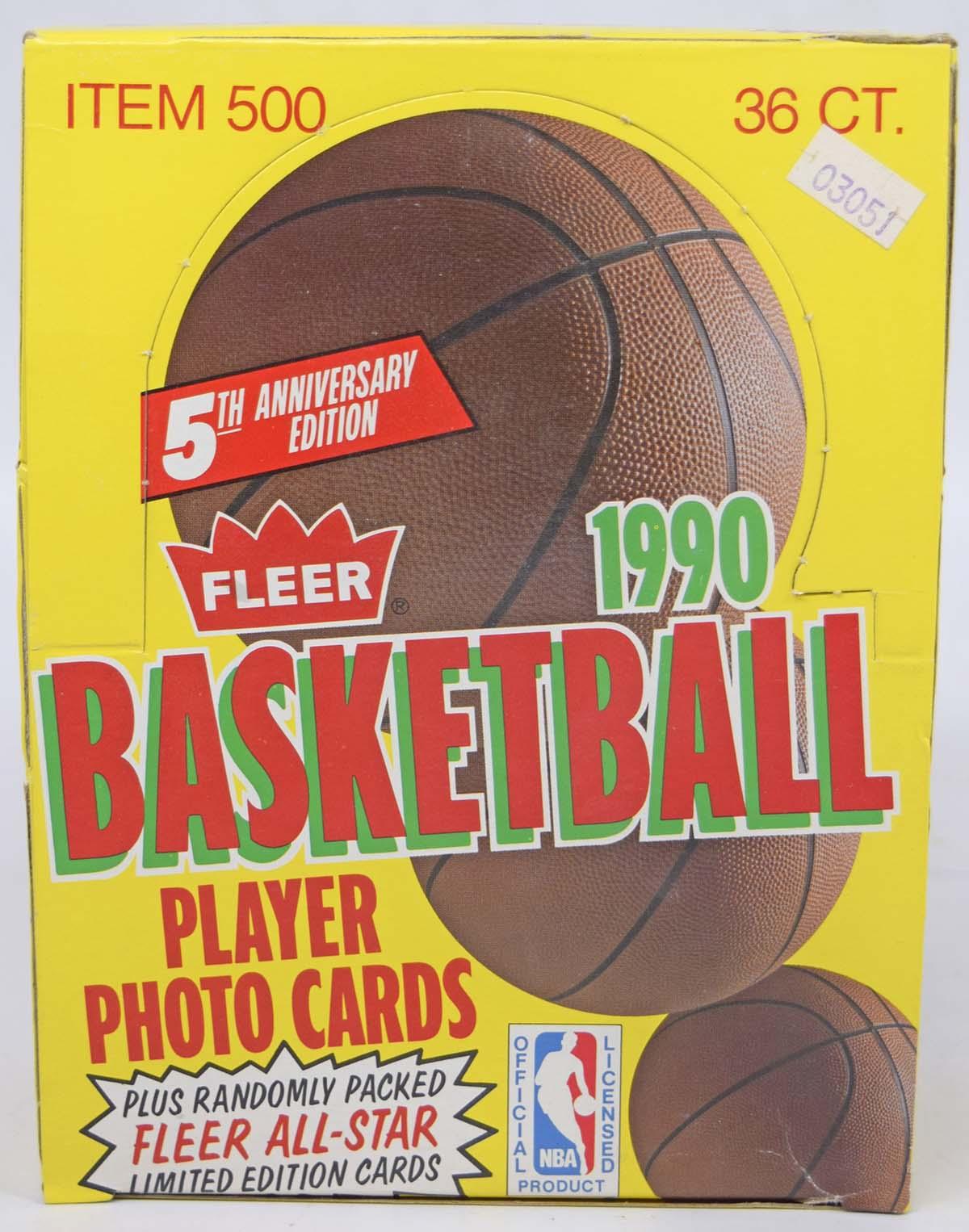 1990 Fleer  Wax Box Nm-Mt