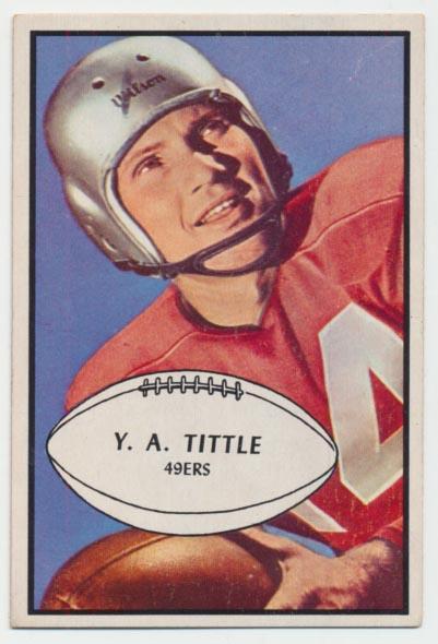1953 Bowman 56 YA Tittle Ex-Mt+ Ctd