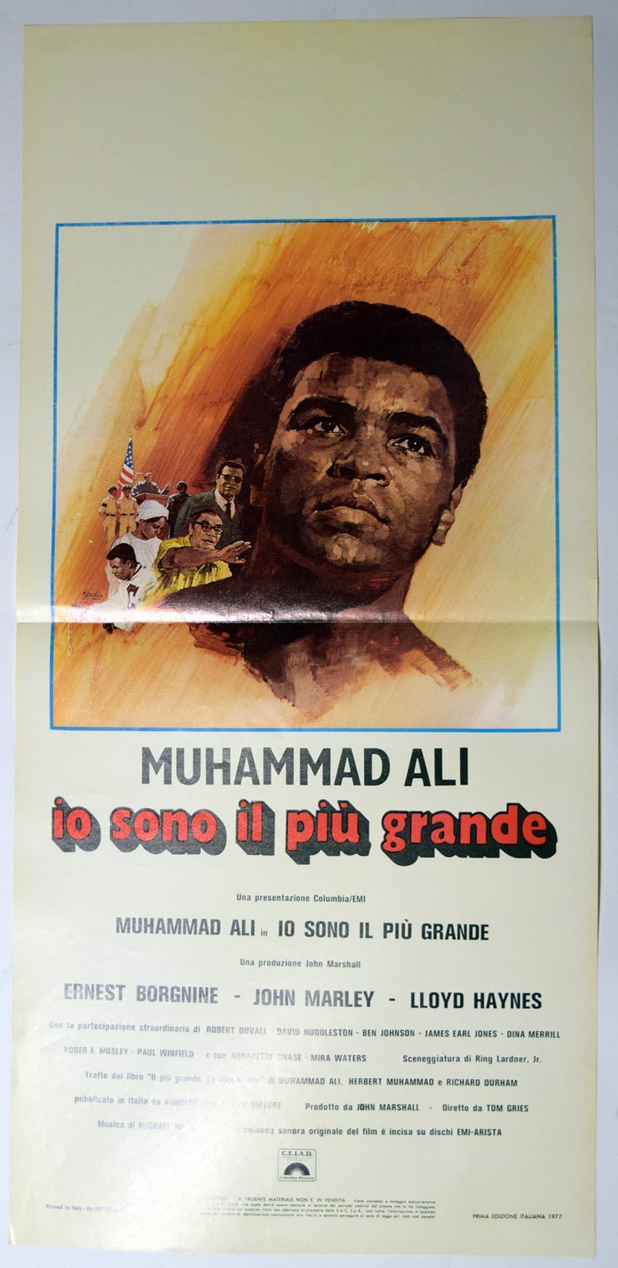 Lot #1052 1977   Ali The Greatest Italian Half-Sheet Cond: Ex-Mt/NM