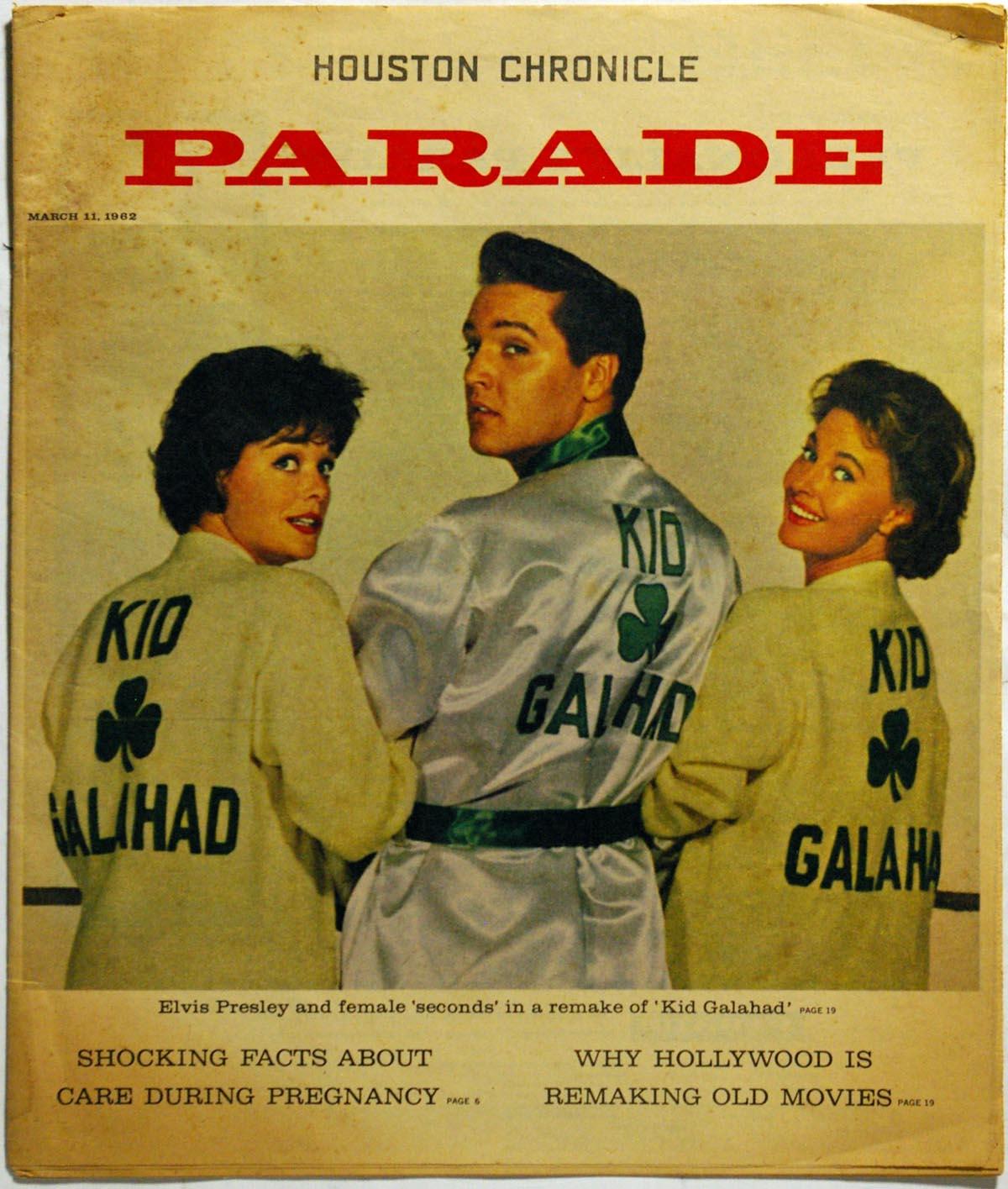 Lot #1011 1962   Elvis Kid Galahad Parade Magazine Cond: Ex-Mt
