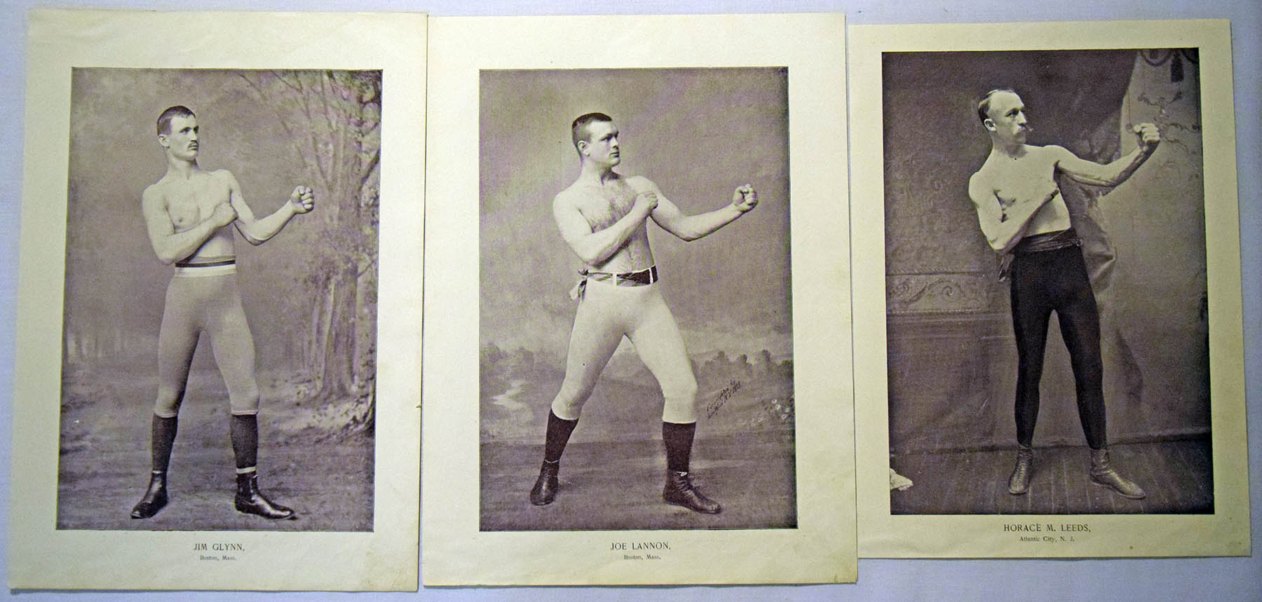 1895 Gladiators of the Ring Large Prints  Lot of 3 different Ex+