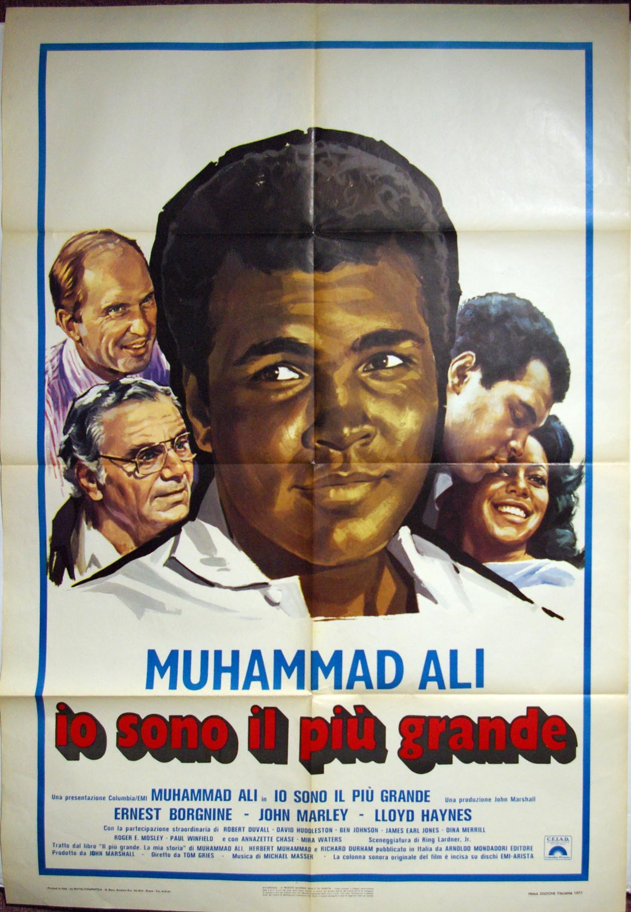 Lot #1013 1977   Ali The Greatest Italian Three Sheet Cond: Ex
