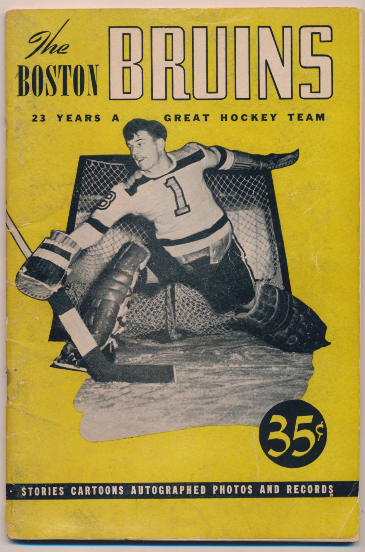 Lot #1215 1946   Boston Bruins Booklet