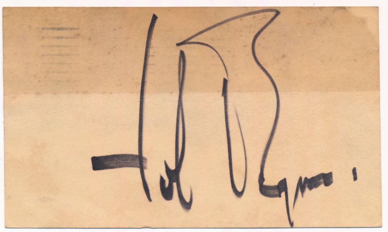 Lot #504  GPC  Brynner, Yul (1954) (JSA LOAA) Cond: 9