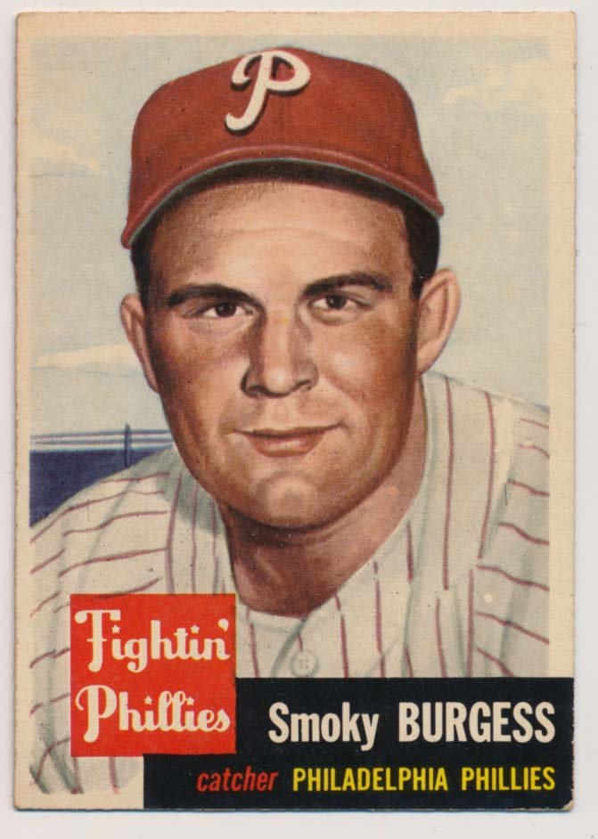 Lot #517 1953 Topps # 10 Burgess Cond: Ex