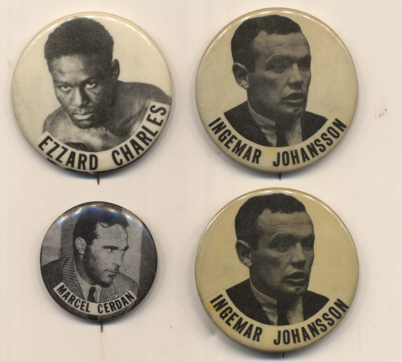 Lot #1009 1950   Collection of 4 Pins Cond: Ex-Mt