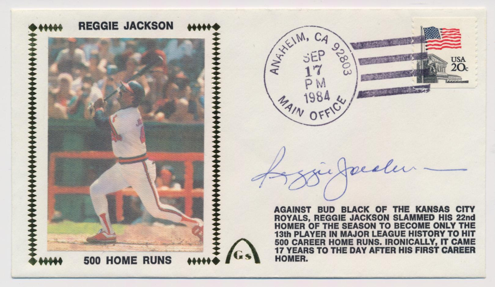 Lot #400  Cachet  Jackson, Reggie (1984) Cond: 9.5