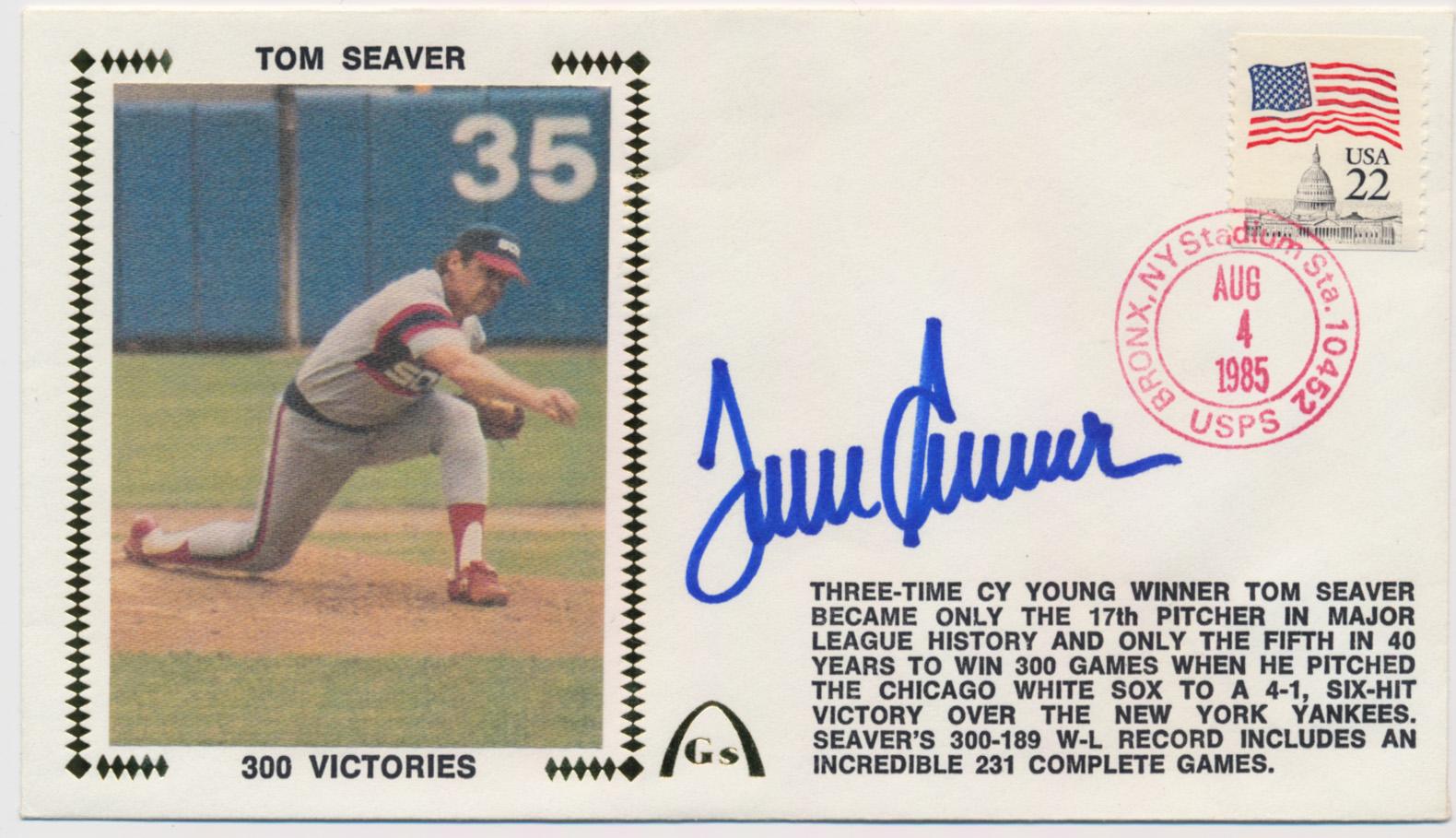 Lot #418  Cachet  Seaver, Tom (1985) Cond: 9.5