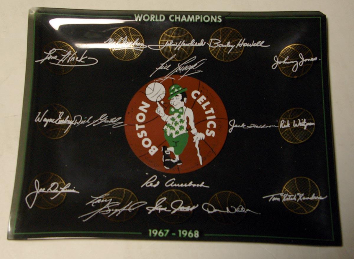 Lot #995 1968   1967-1968 Celtics Championship Ashtray Cond: Nm-Mt