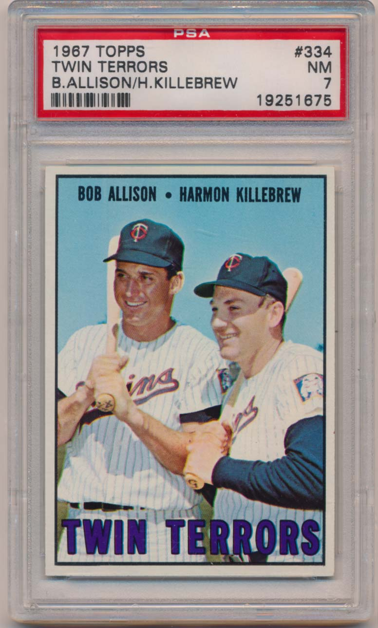 Lot #1053 1967 Topps # 334 Killebrew/Allison Cond: PSA 7