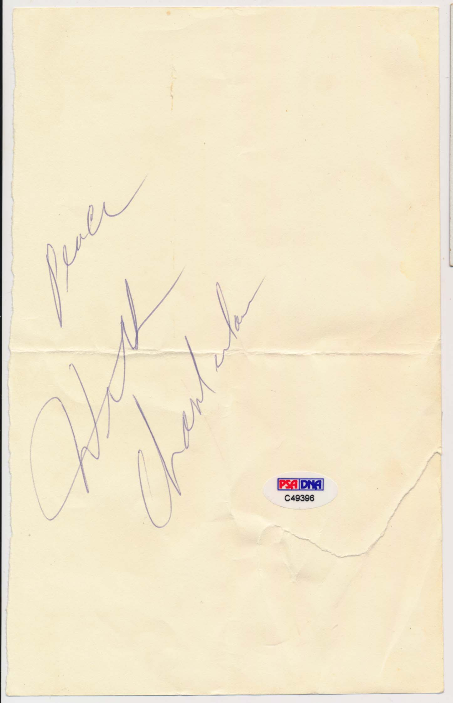 Lot #912    Chamberlain, Wilt Huge Signature Cond: 9