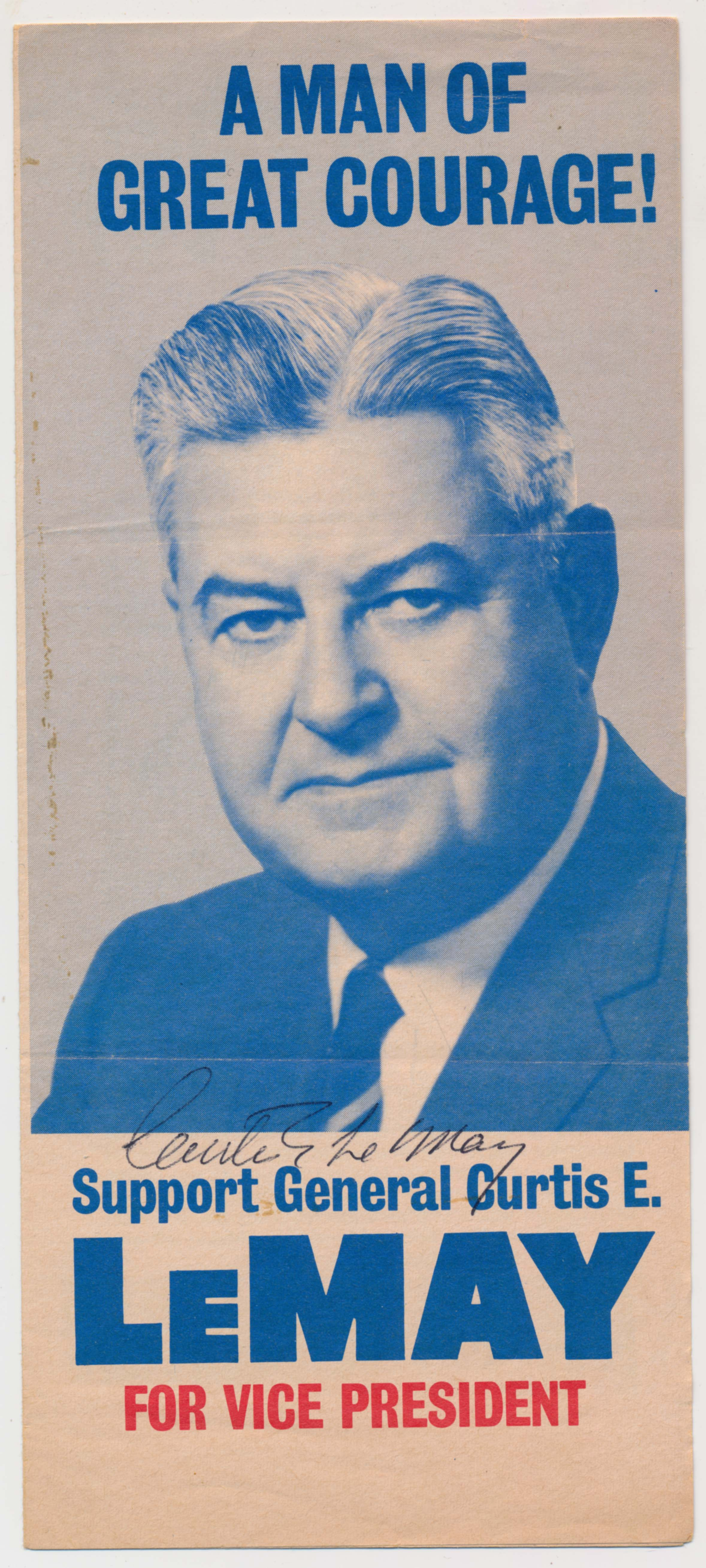 Lot #713    LeMay, Curtis Signed Vice Presidential Campaign Brochure (JSA LOAA) Cond: 9