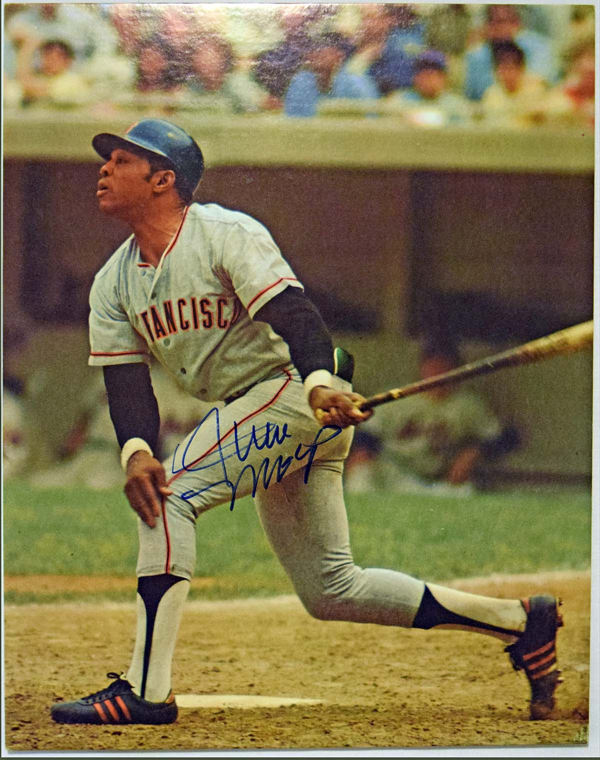 Lot #373  Large Print  Mays, Willie Signed 1971 Sports Illustrated Cardboard Display Cond: 9.5