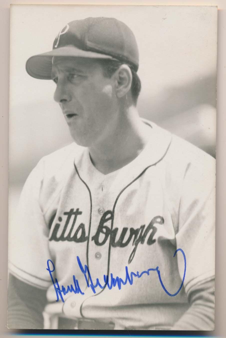 Lot #175  Postcard  Greenberg, Hank Cond: 9.5