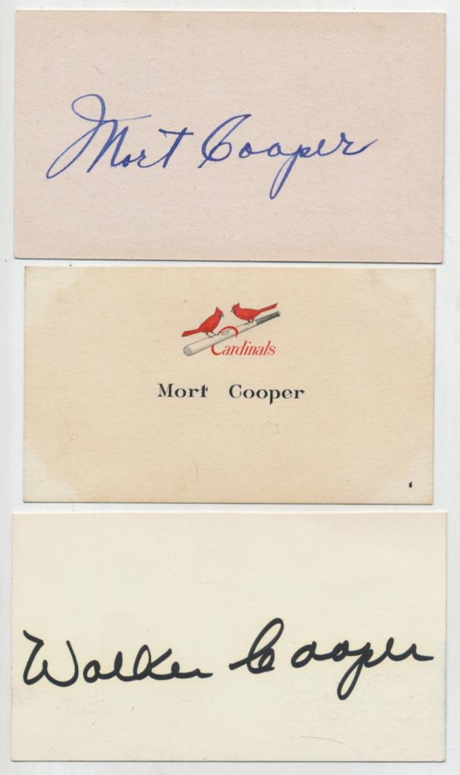 Cut  Cooper, Mort (w/extras) 9.5
