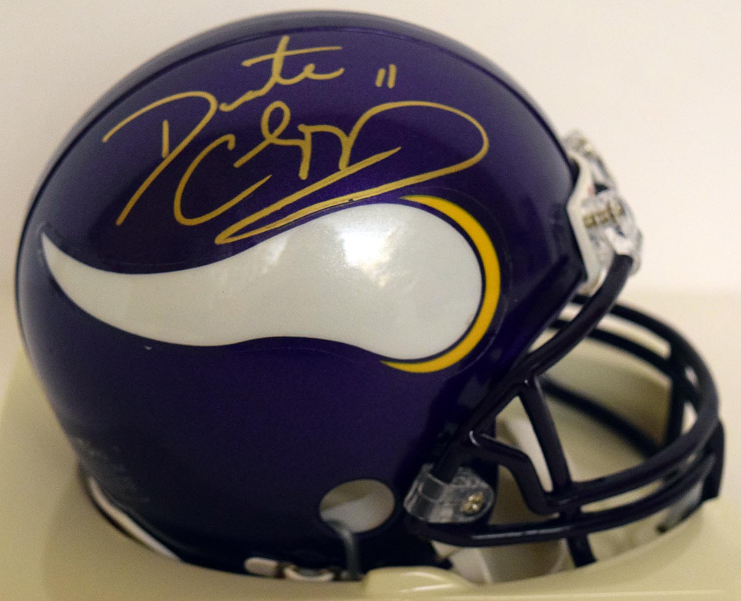 Lot #973  Mini Helmet  Culpepper, Dante (JSA LOA) Cond: 9.5