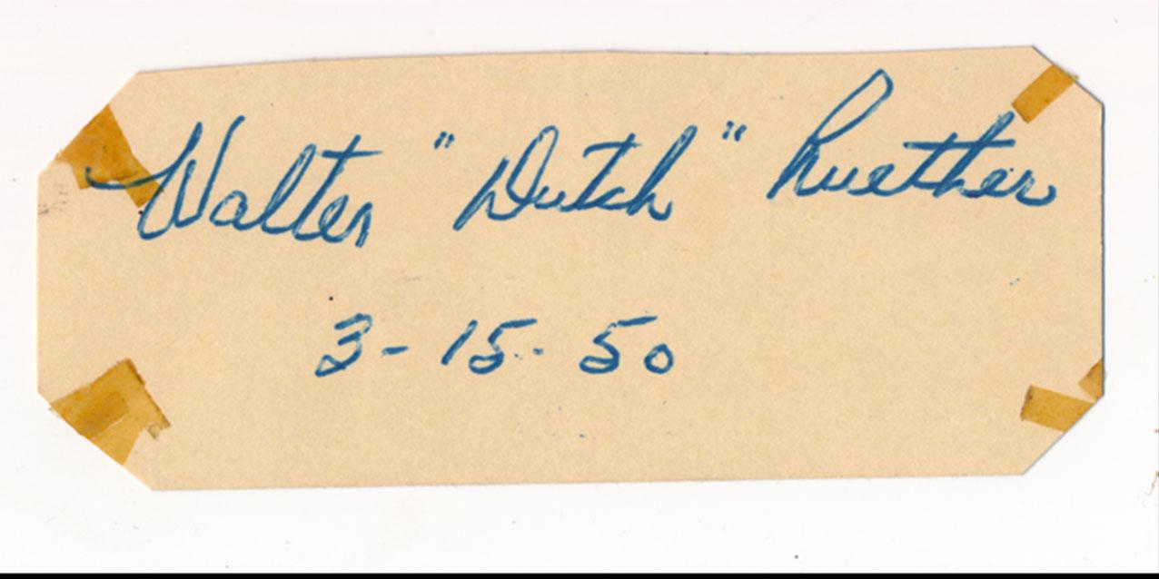 Cut  Ruether, Dutch (vintage) 9.5