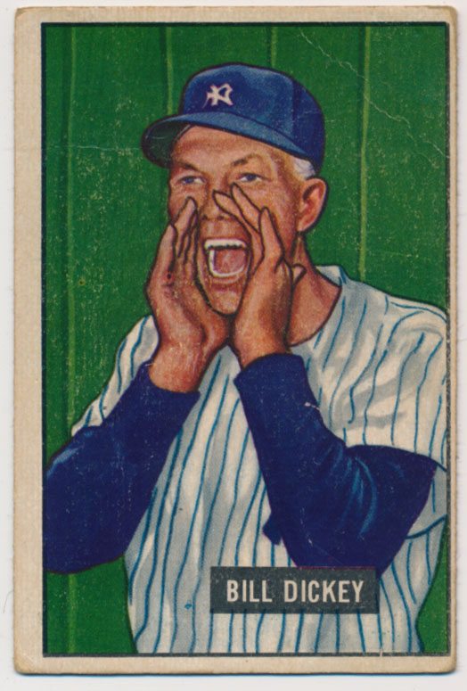 Lot #491 1951 Bowman # 290 Dickey Cond: VG