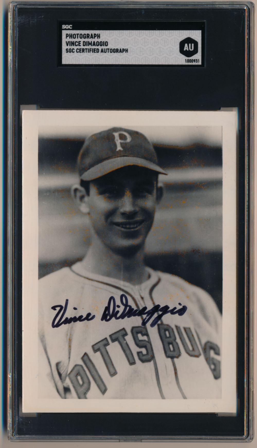Photo  DiMaggio, Vince 9.5