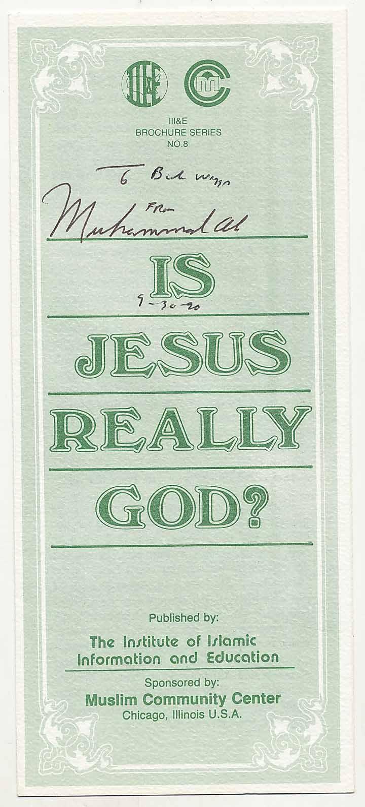 Lot #1023  Document  Ali, Muhammed Signed Islamic Brochure Cond: 9.5