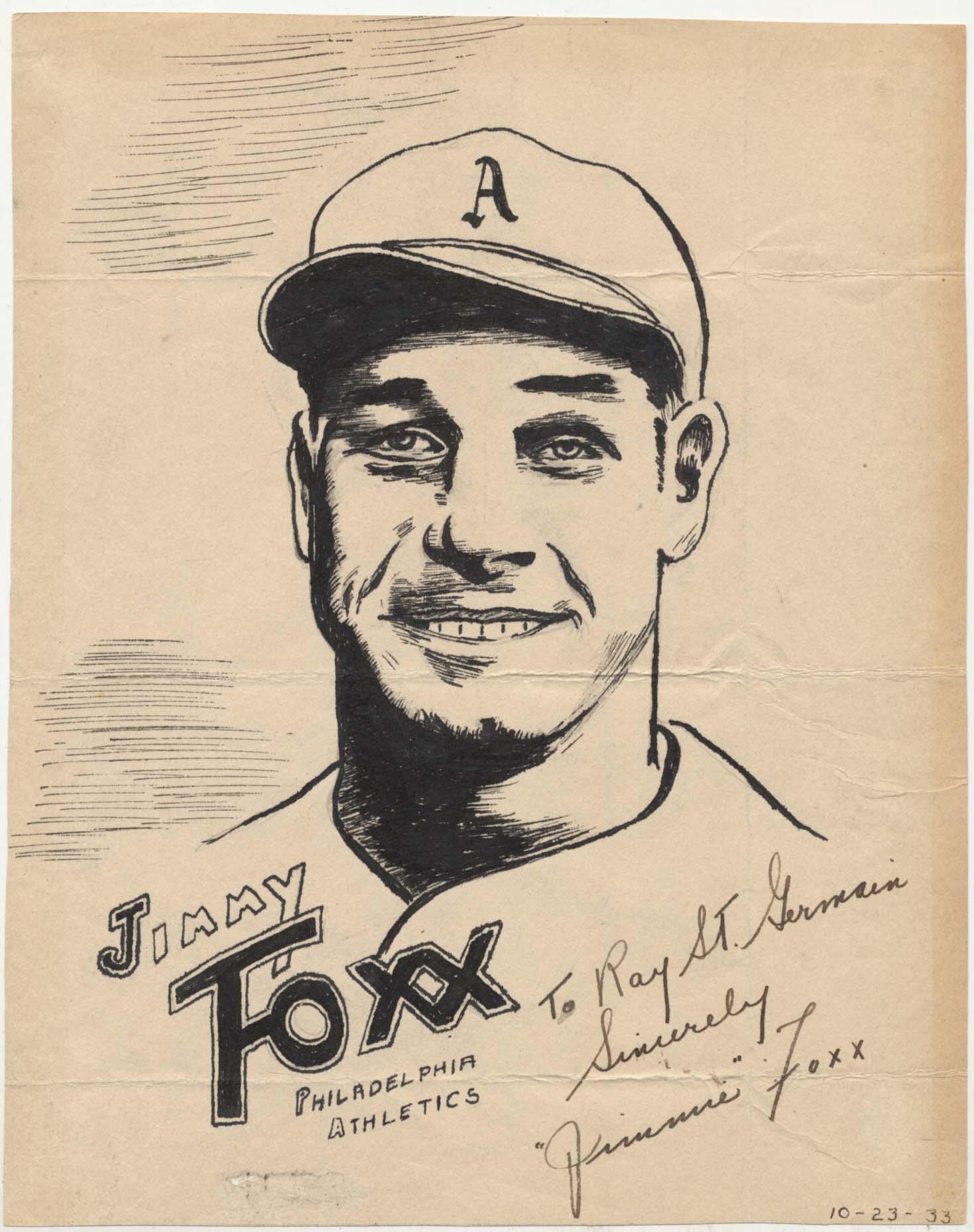Lot #1501 1935 Artwork  Foxx, Jimmie Cond: Ex-Mt