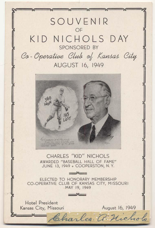 Lot #410  Cut  Nichols, Charles Kid Cond: 9.5