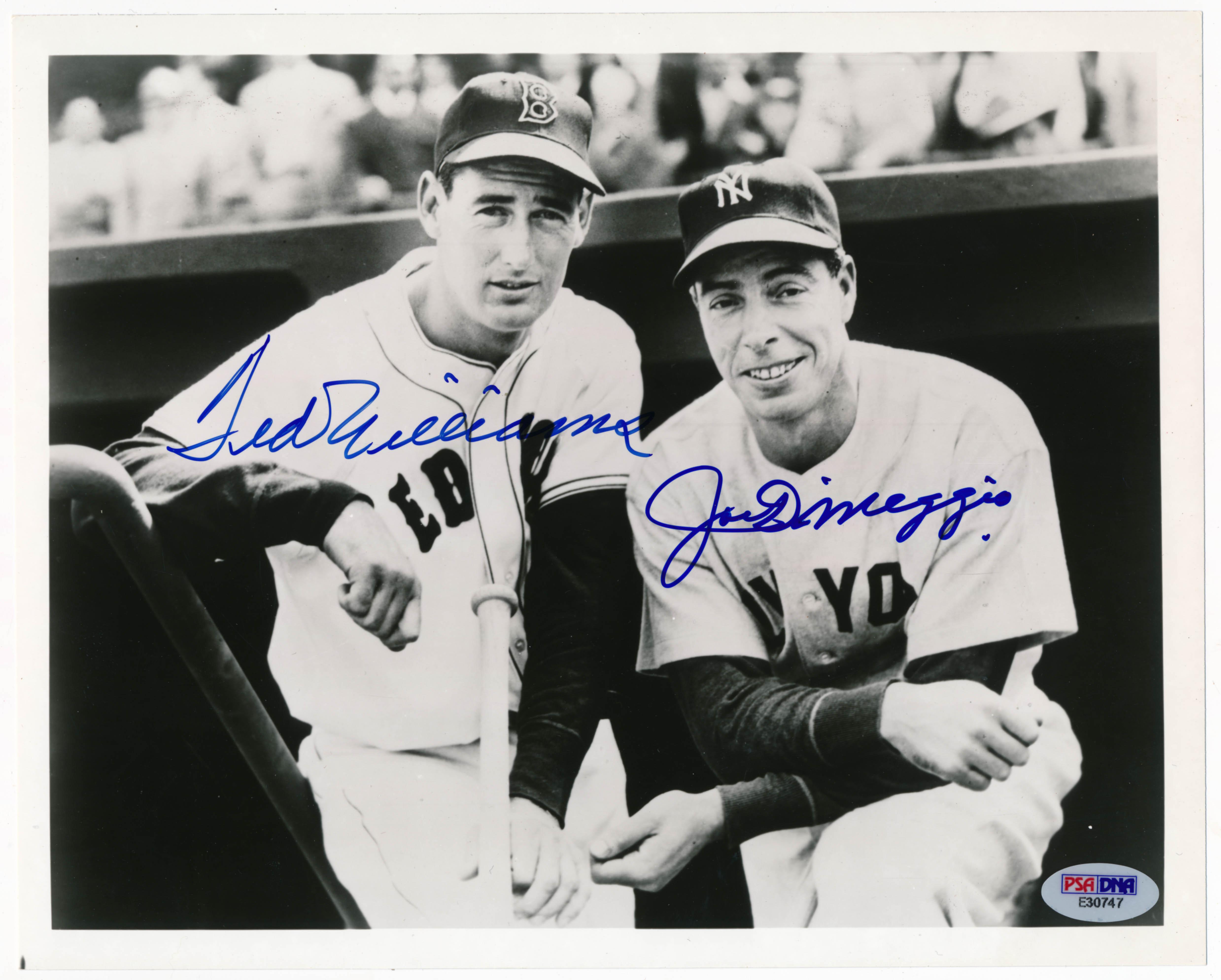 Lot #215  8 x 10  DiMaggio/Williams Cond: 9.5