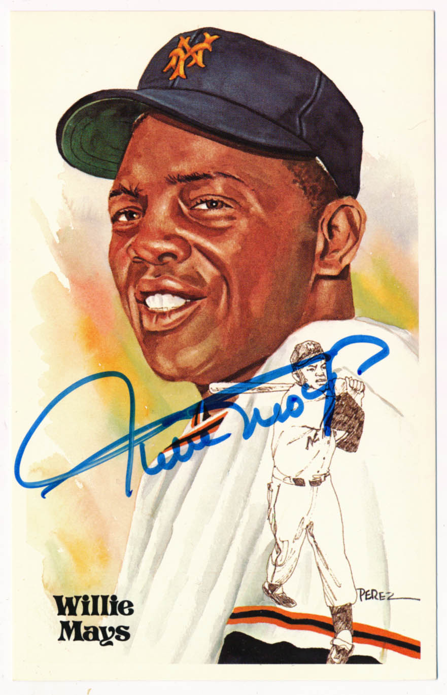 Lot #194 1980 Perez Steele  Mays, Willie (PSA DNA Card) Cond: 9.5