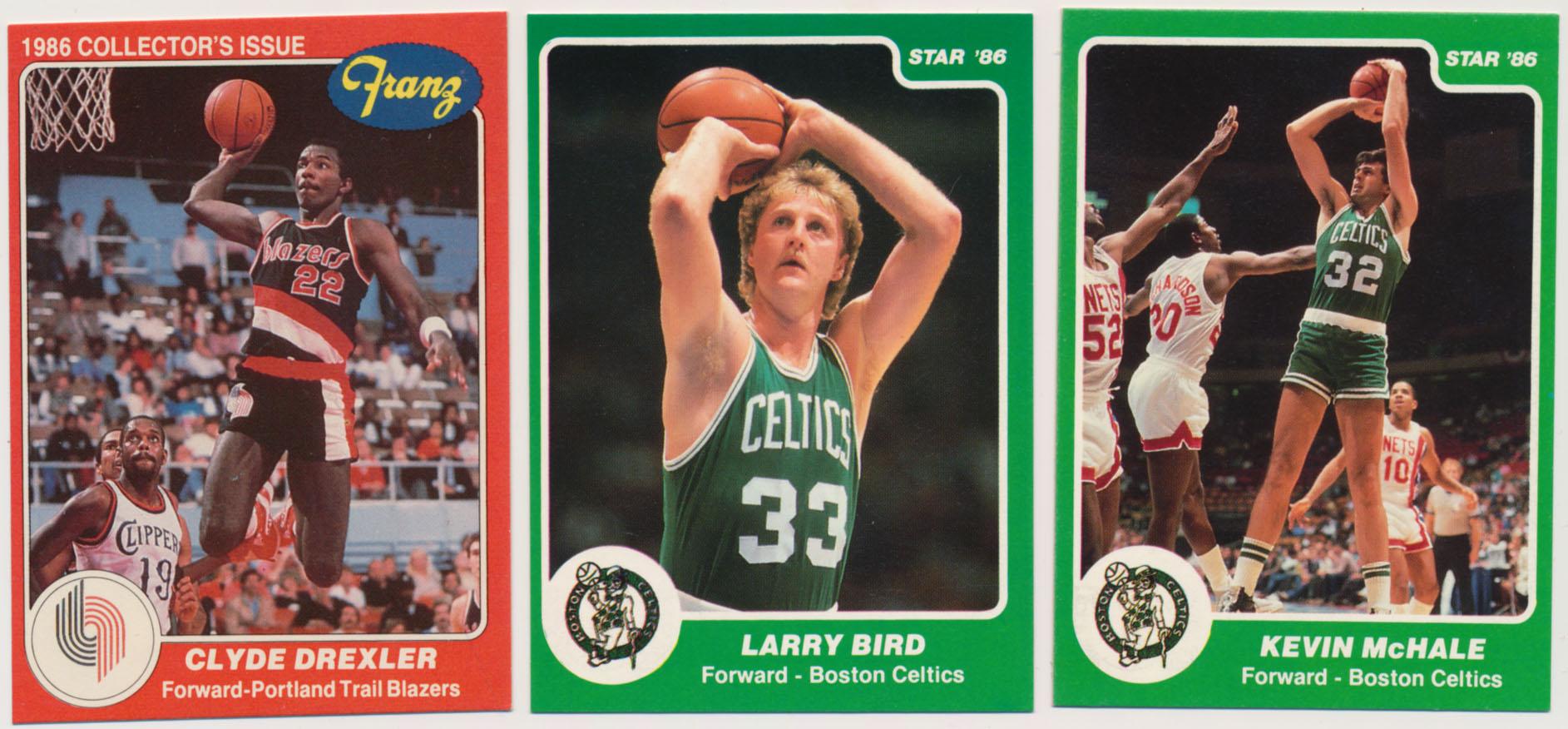 Lot #990 1986 Star  Complete Set + Celtics Cards Cond: NM
