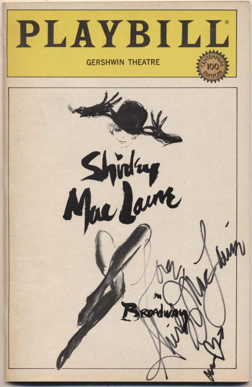 Lot #552  Program  MacLaine, Shirley Signed 1984 Playbill (JSA LOA) Cond: 9