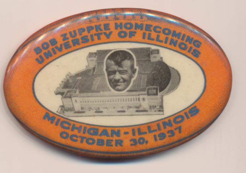 1937 Pin  Michigan-Illinois October 30, 1937 Pin Ex-Mt/NM