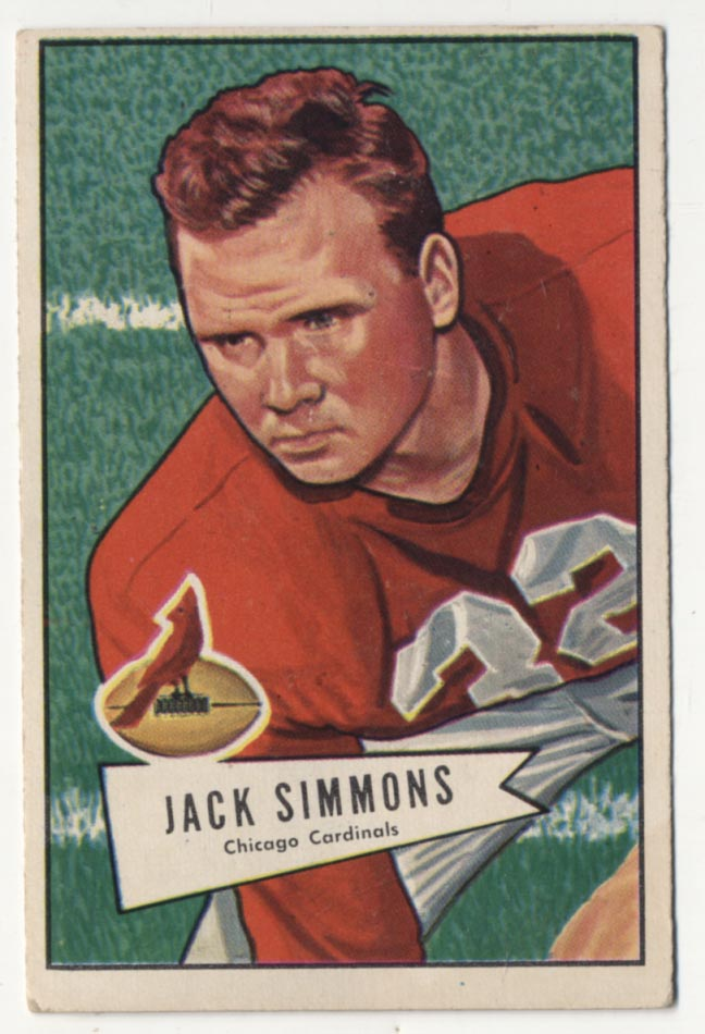 1952 Bowman Large 110 Simmons VG-Ex/Ex