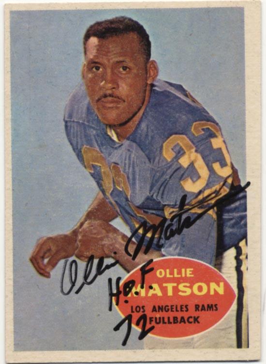 Lot #1064 1960 Topps # 63 Matson Cond: 9