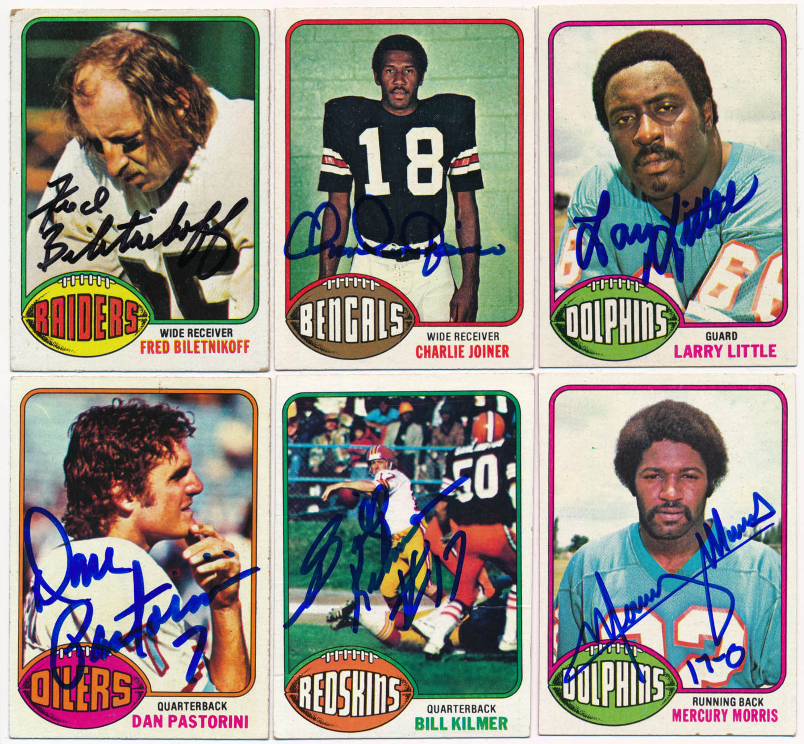 1976 Topps  Collection of 26 different signed cards 9
