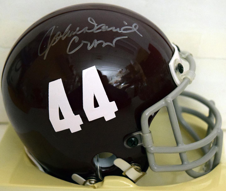 Lot #972  Mini Helmet  Crow, John David (JSA LOA) Cond: 9.5