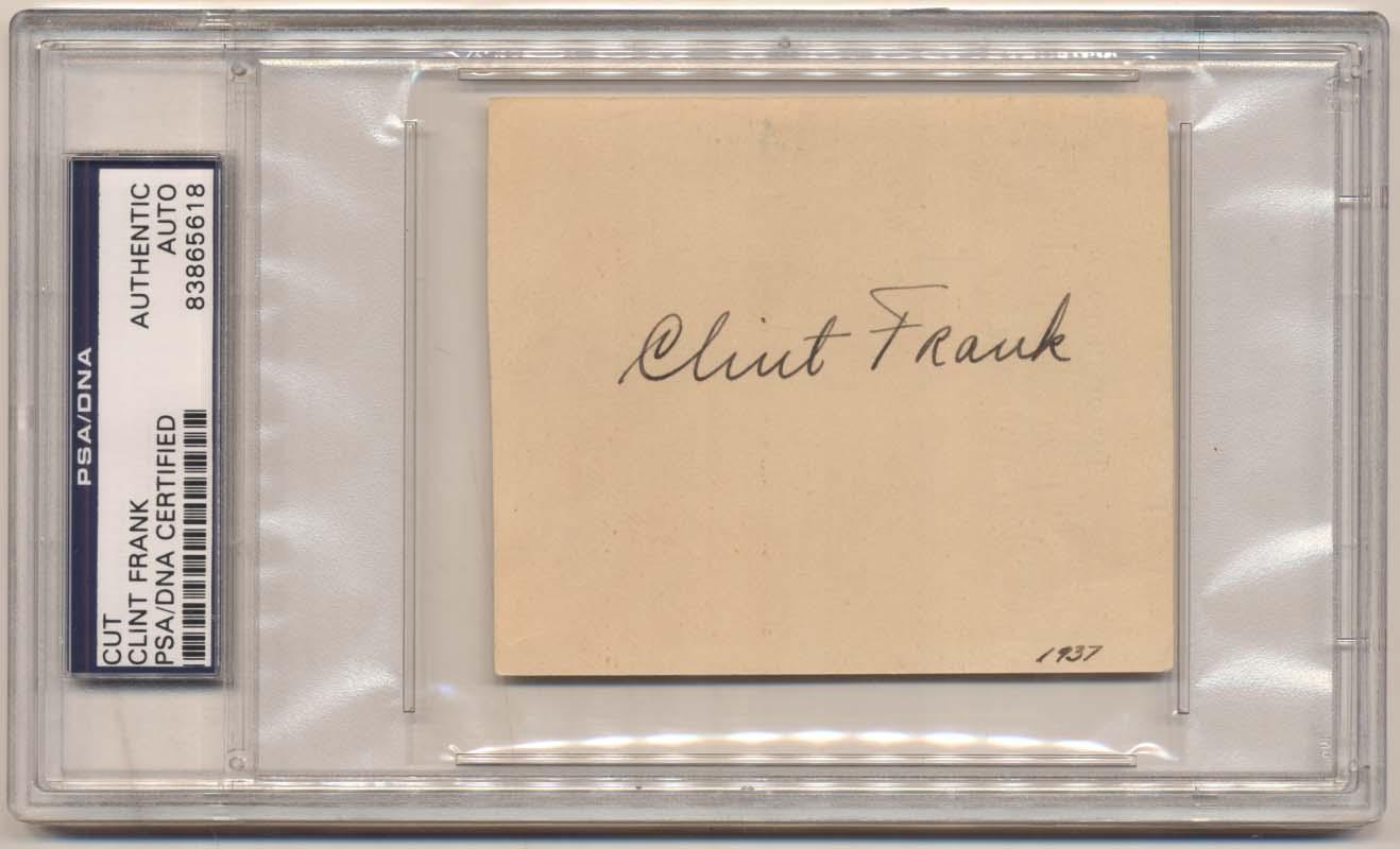 Lot #1022  Cut  Frank, Clint Cond: 9.5