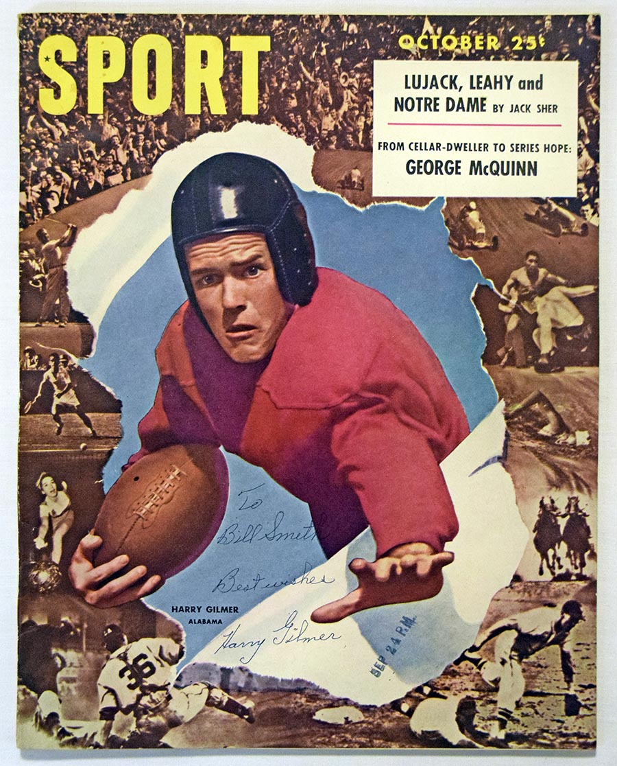 Lot #1107  Program  Gilmer, Harry Signed Oct 1947 Sport Magazine Cond: 9
