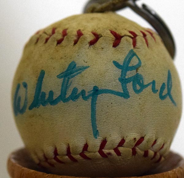 Lot #1712  HOF # Whitey Ford (vintage signed micro ball) Cond: 9