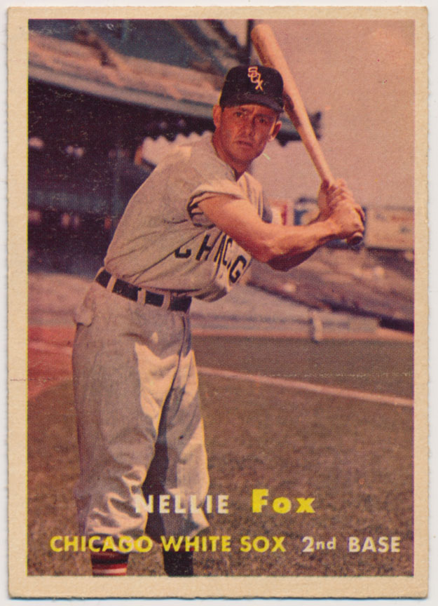 Lot #863 1957 Topps # 38 Nellie Fox Cond: Ex