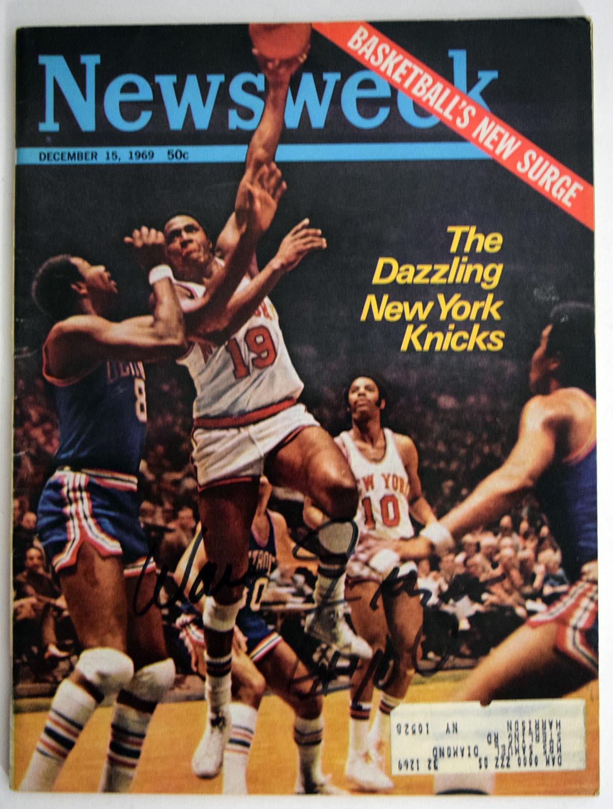 Lot #841  Program  Frazier, Walt Signed 1969 Newsweek Cond: 9.5