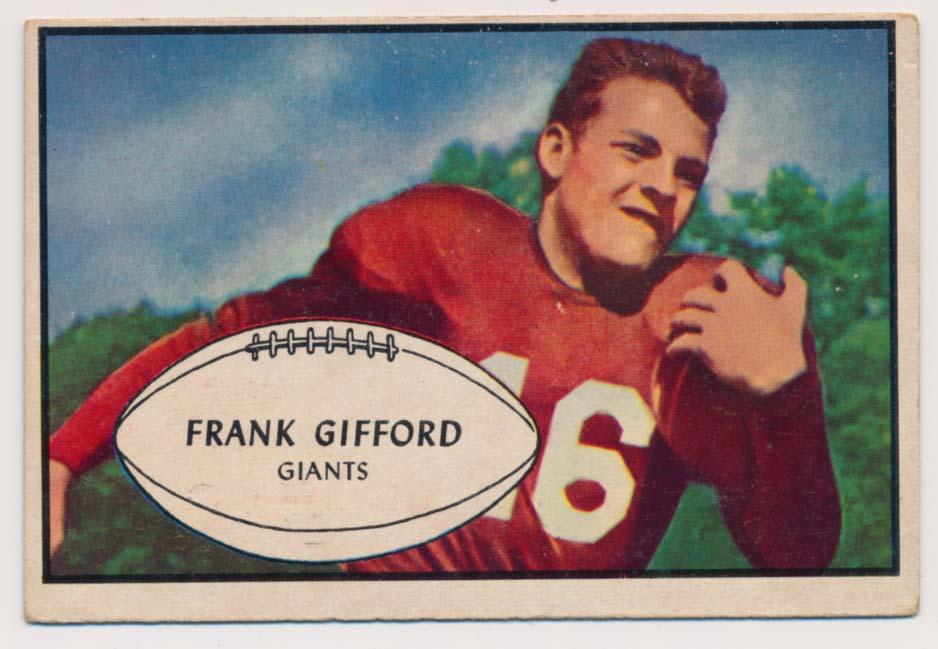 1953 Bowman 43 Frank Gifford SP VG-Ex