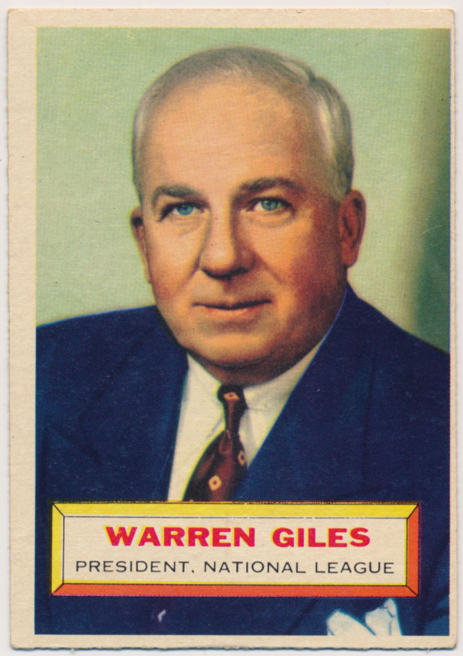 Lot #814 1956 Topps # 2 Giles RC Cond: VG-Ex/Ex