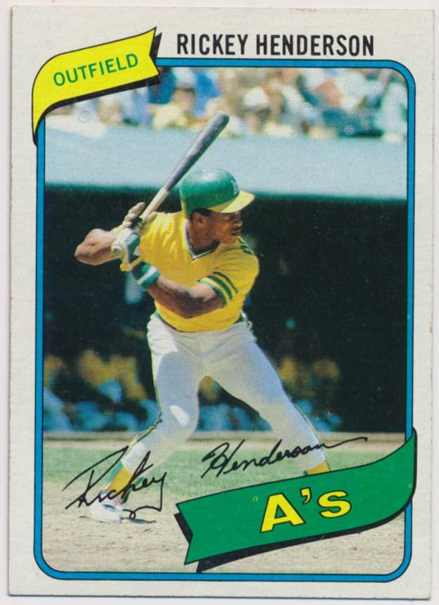 1980 Topps 482 Rickey Henderson RC NM Ctd