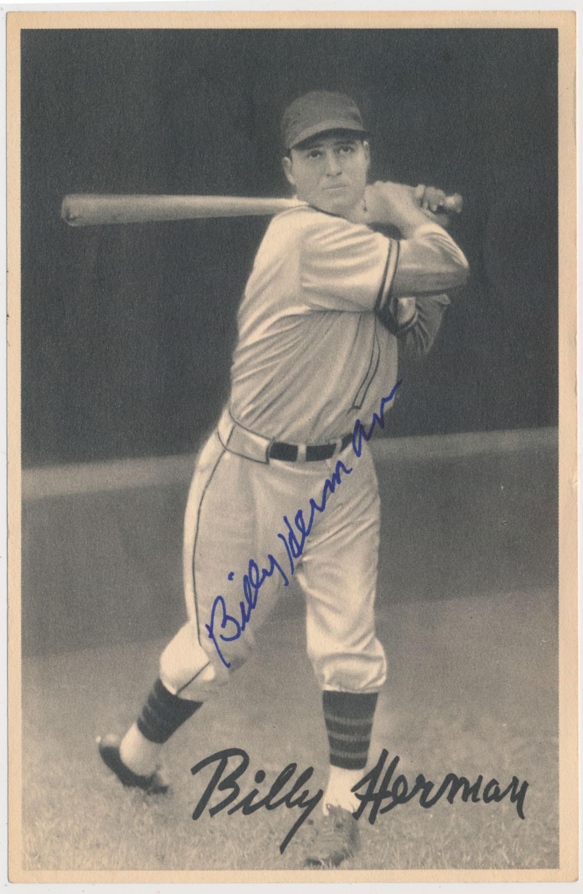 Lot #7 1939 R303-B #   Billy Herman Cond: 9.5