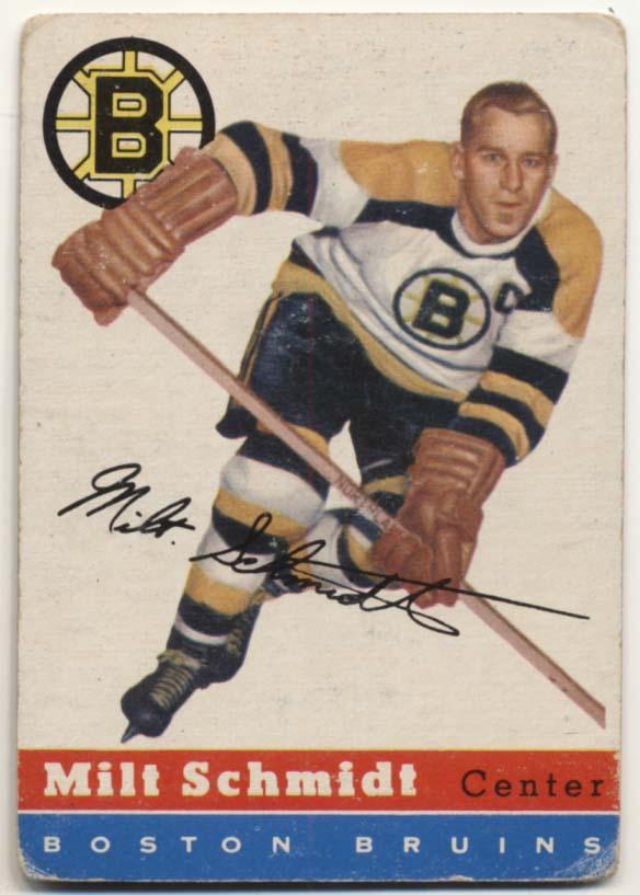1954 Topps 60 Milt Schmidt Good
