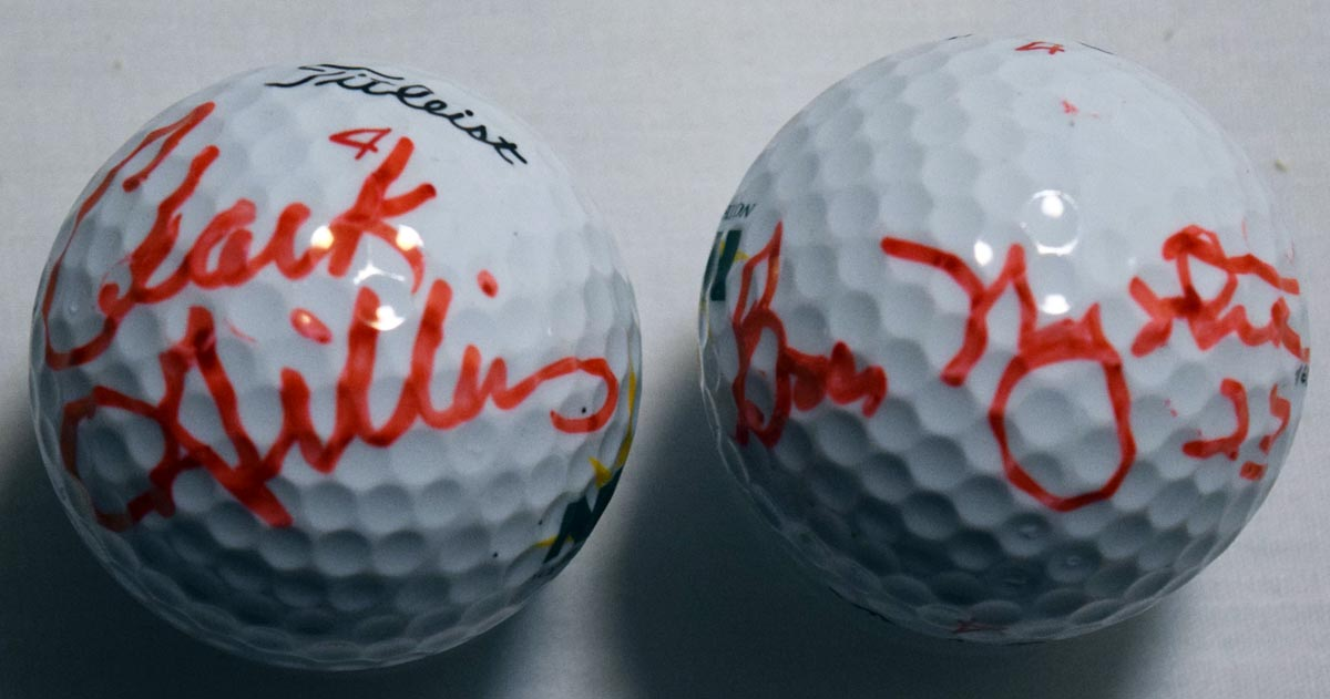 Gillies & Nystrom Signed Golf Balls 9.5