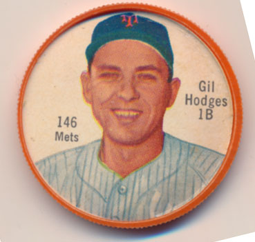 Lot #774 1962 Salada Coins # 146.2 Gil Hodges (Mets) Cond: NM