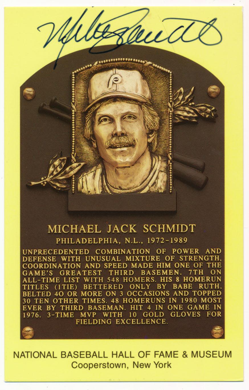 Yellow HOF Plaque 148 Mike Schmidt 9.5