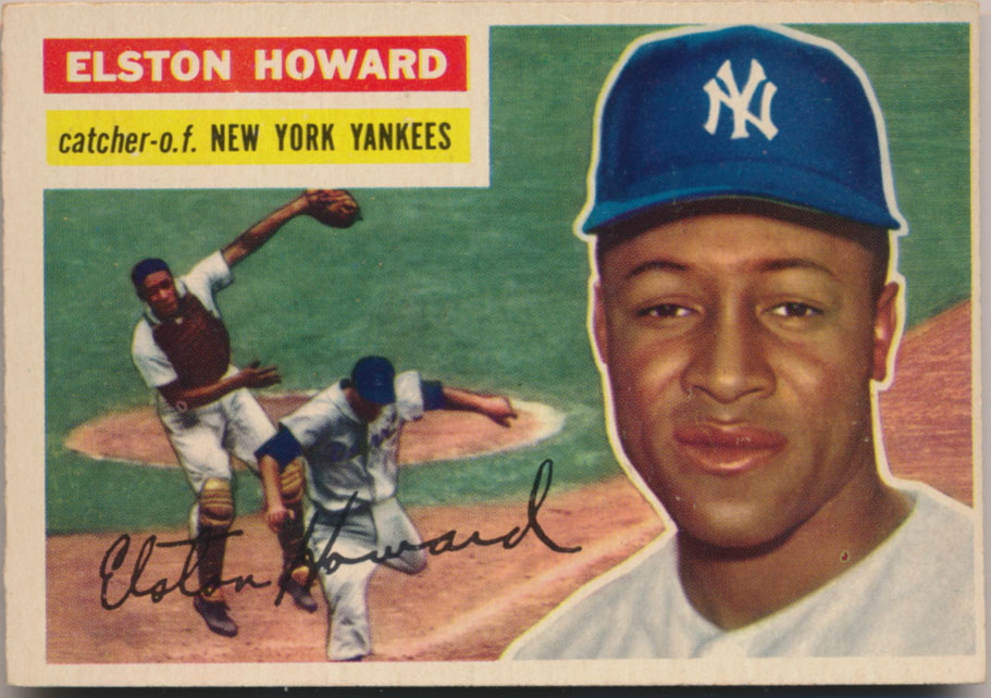 Lot #843 1956 Topps # 208 E Howard FTC Cond: Ex