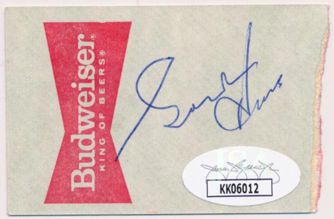 1985 Ticket  Howe, Gordie Signed 1985 Ticket 9 JSA LOA (CARD)